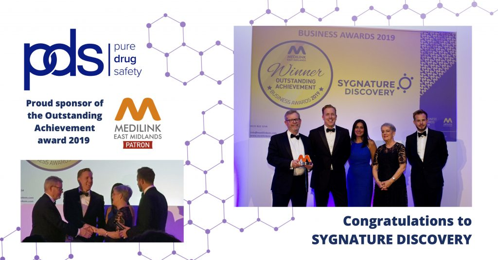 Pure Drug Safety sponsors Outstanding Achievement Award at Medilink East Midlands