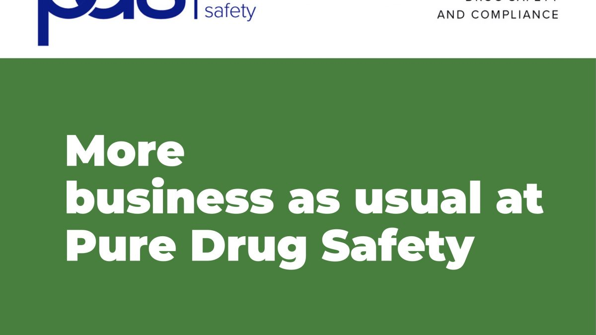 Business as usual at Pure Drug Safety despite the continuing coronavirus pandemic